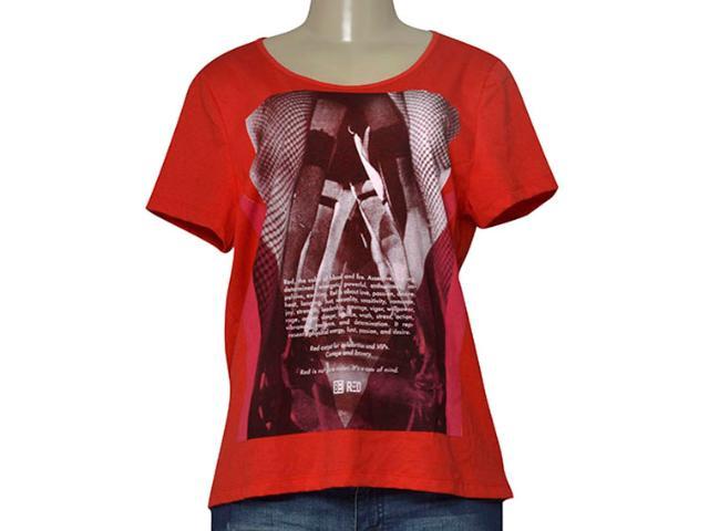 T-shirt Feminino be Red 341200001 Vermelho