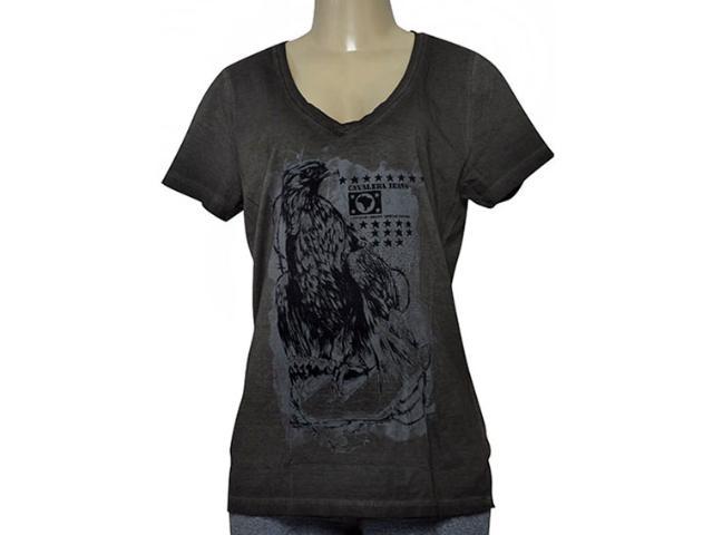 T-shirt Feminino Cavalera Clothing 09.02.2585 Preto Estonado
