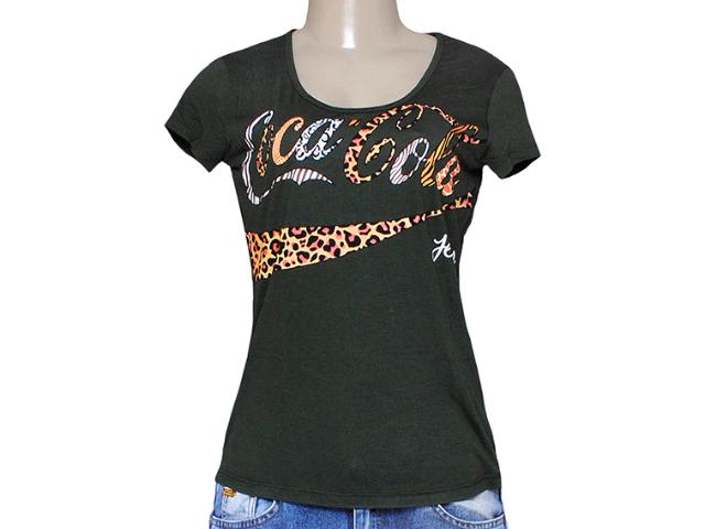 T-shirt Feminino Coca-cola Clothing 343201249 Verde