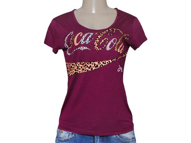 T-shirt Feminino Coca-cola Clothing 343201249 Roxo