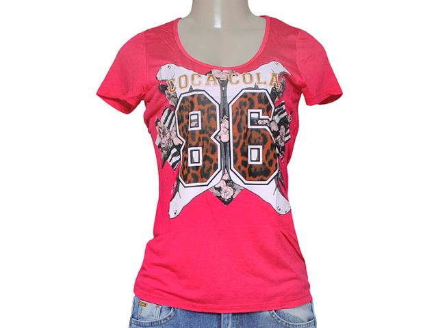 T-shirt Feminino Coca-cola Clothing 343201231 Pink