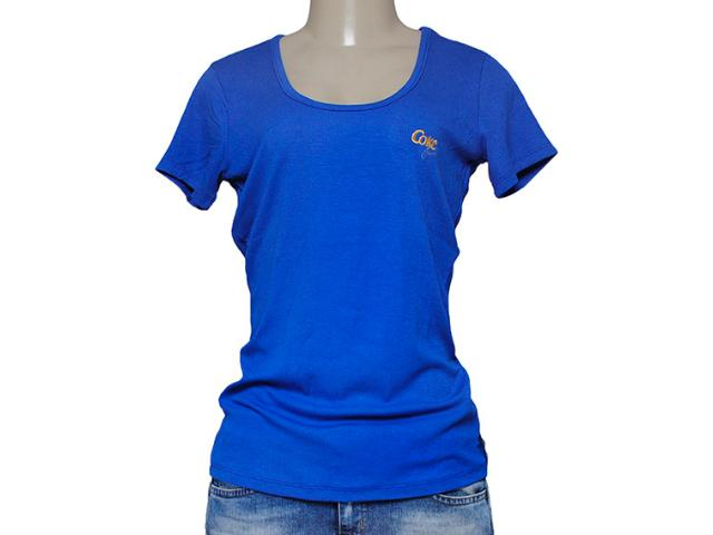 T-shirt Feminino Coca-cola Clothing 343201168 Azul Royal