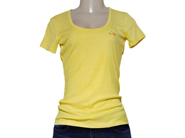 T-shirt Feminino Coca-cola Clothing 343201168 Amarelo