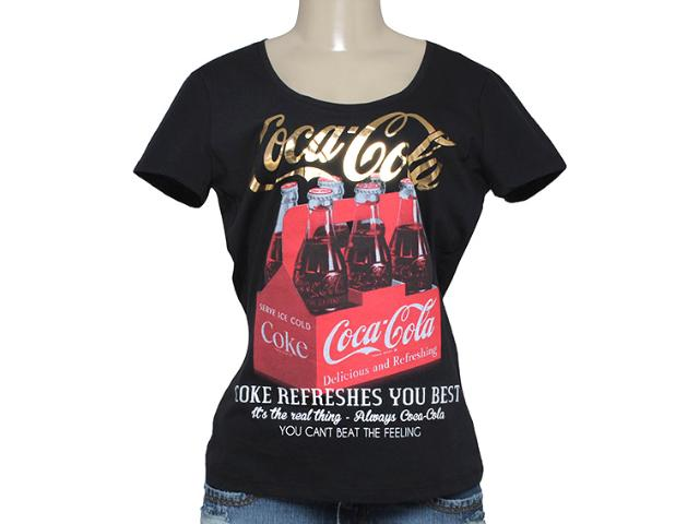 T-shirt Feminino Coca-cola Clothing 343201250 Preto