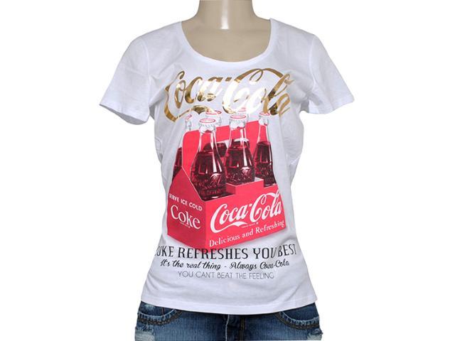 T-shirt Feminino Coca-cola Clothing 343201250 Branco