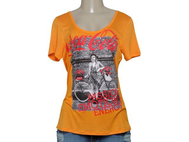 T-shirt Feminino Coca-cola Clothing 343201227 Laranja