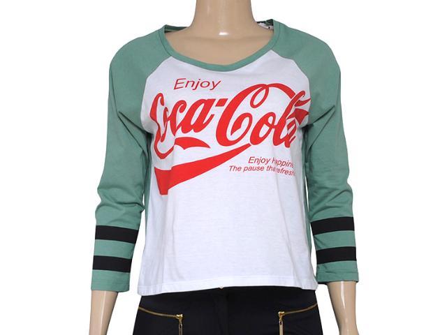 T-shirt Feminino Coca-cola Clothing 343201189 Branco/verde