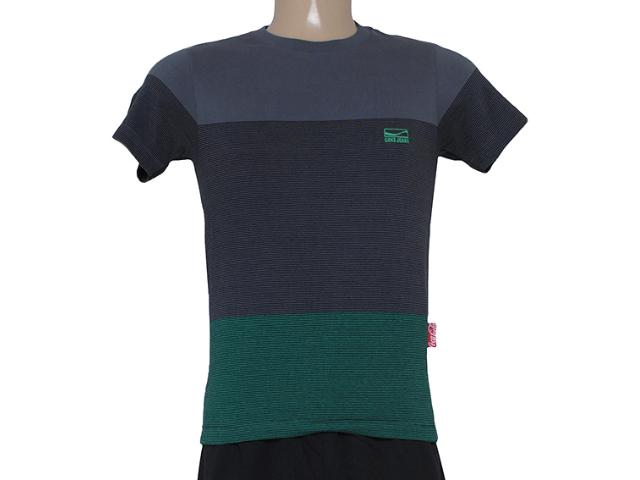 T-shirt Masculino Coca-cola Clothing 353204317 Cinza/verde