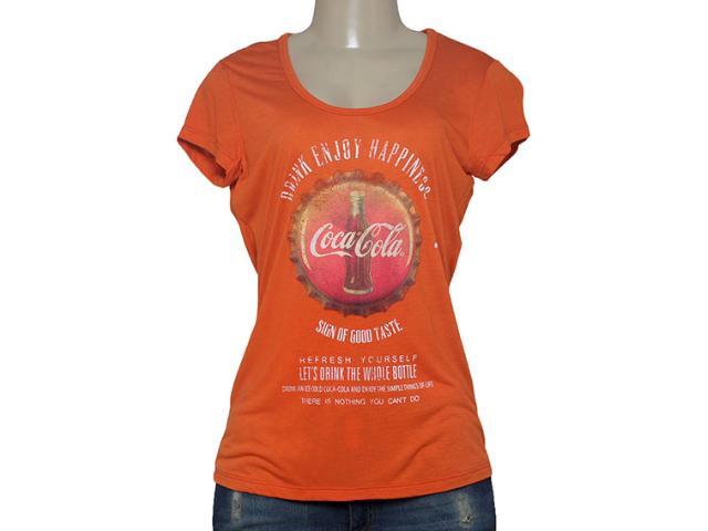 T-shirt Feminino Coca-cola Clothing 343201338 Laranja