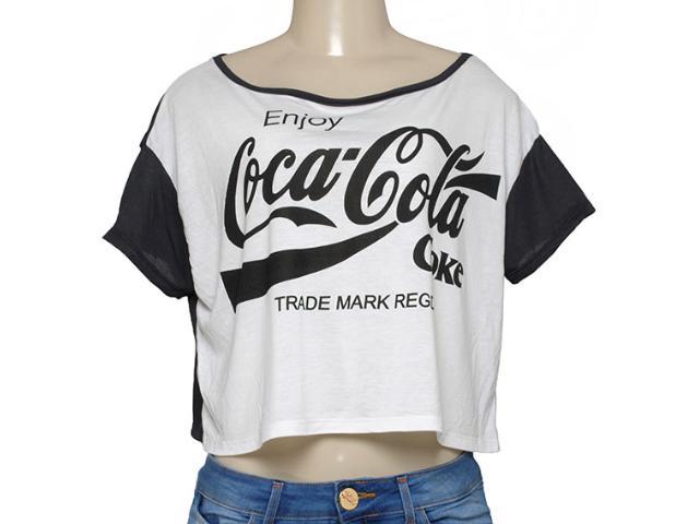 T-shirt Feminino Coca-cola Clothing 343201447 Preto/off White
