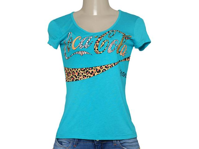 T-shirt Feminino Coca-cola Clothing 343201249 Azul