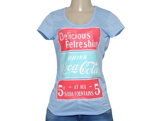 T-shirt Feminino Coca-cola Clothing 345200048 Azul Claro