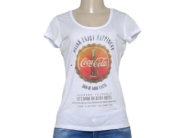 T-shirt Feminino Coca-cola Clothing 343201338 Branco