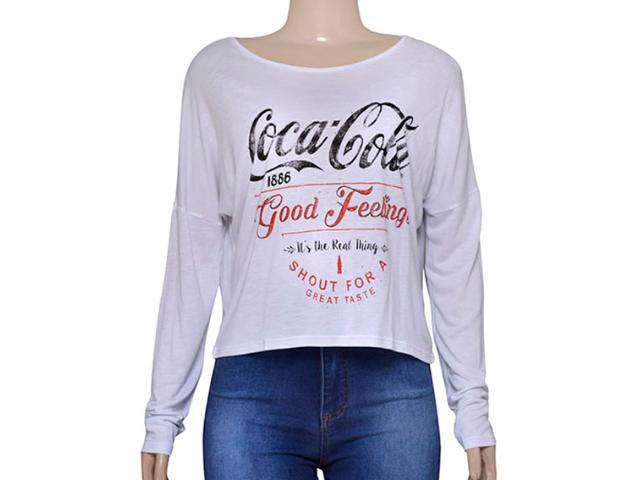 T-shirt Feminino Coca-cola Clothing 343201535 Branco