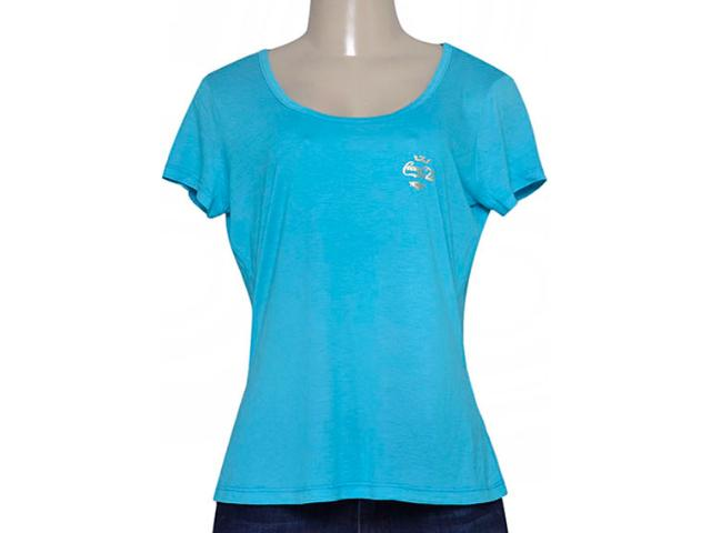 T-shirt Feminino Coca-cola Clothing 343201423 Azul