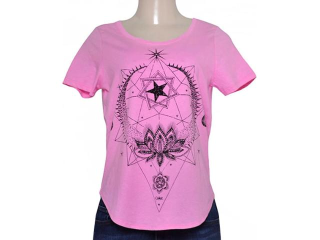 T-shirt Feminino Coca-cola Clothing 343201442 Rosa
