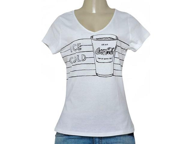 T-shirt Feminino Coca-cola Clothing 343201607 Branco