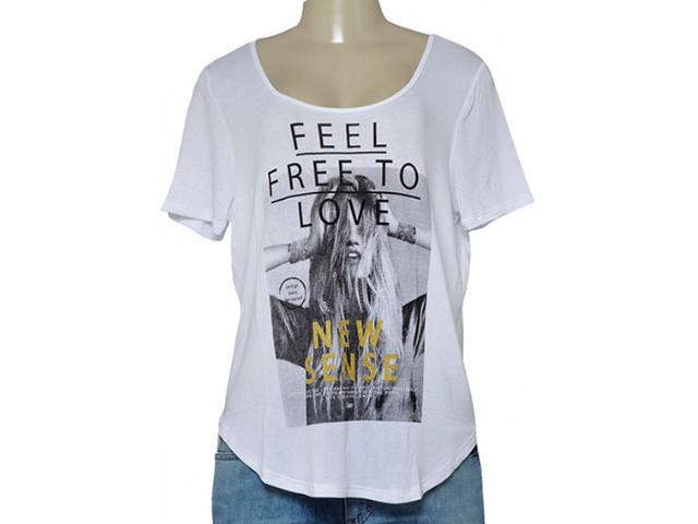 T-shirt Feminino Coca-cola Clothing 343201610 Branco