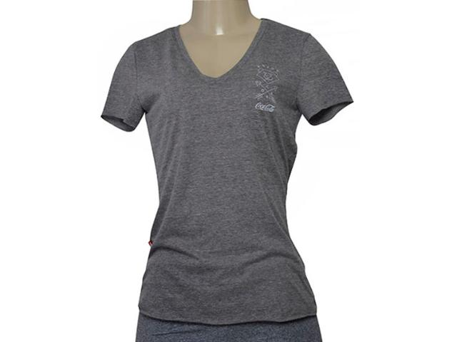 T-shirt Feminino Coca-cola Clothing 343202026 Cinza