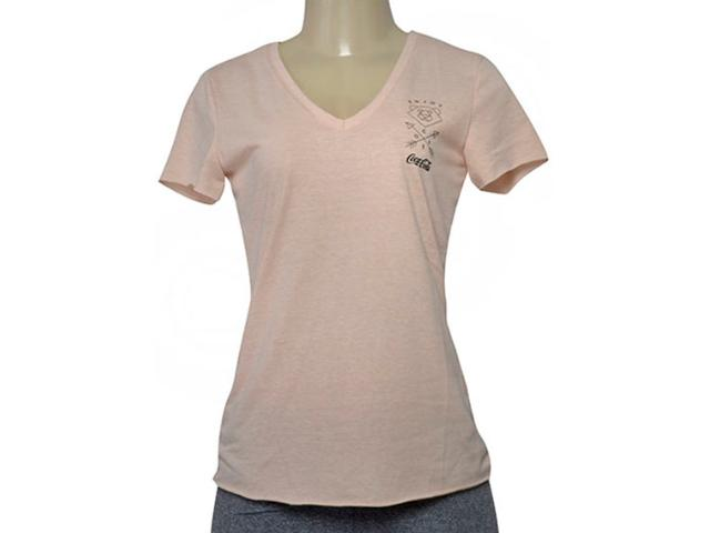 T-shirt Feminino Coca-cola Clothing 343202026 Bege