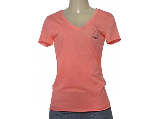 T-shirt Feminino Coca-cola Clothing 343202026 Coral