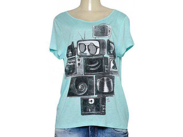 T-shirt Feminino Coca-cola Clothing 345800006 Verde