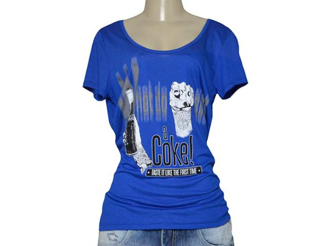 T-shirt Feminino Coca-cola Clothing 343201651 Azul