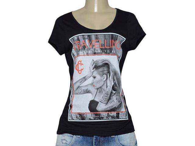 T-shirt Feminino Coca-cola Clothing 343201628 Preto