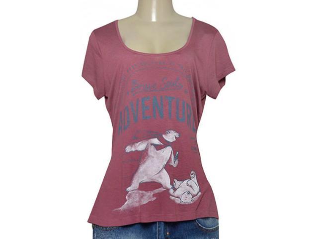 T-shirt Feminino Coca-cola Clothing 343201656 Vinho