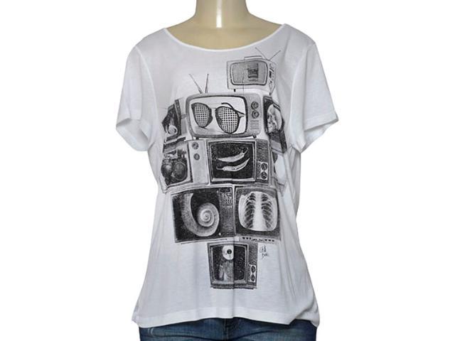 T-shirt Feminino Coca-cola Clothing 345800006 Branco
