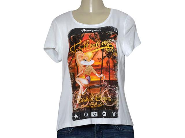 T-shirt Feminino Coca-cola Clothing 345600099 Branco