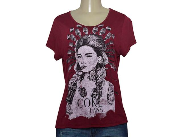 T-shirt Feminino Coca-cola Clothing 343201687 Bordo
