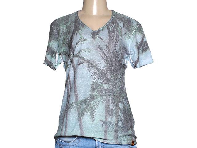T-shirt Feminino Dopping 015258566 Verde Estampado