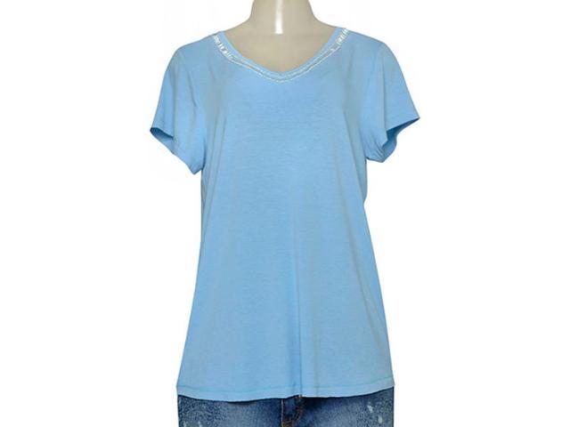 T-shirt Feminino Dopping 015265503 Azul Claro