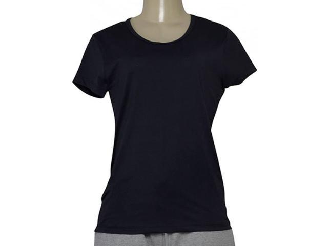T-shirt Feminino Estilo do Corpo 7077 Preto