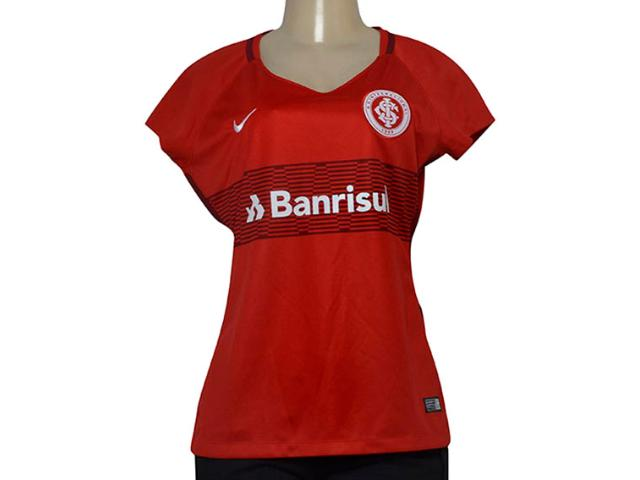T-shirt Feminino 854704-612 Womens Breathe S.c Internacional Stadiu Vermelho