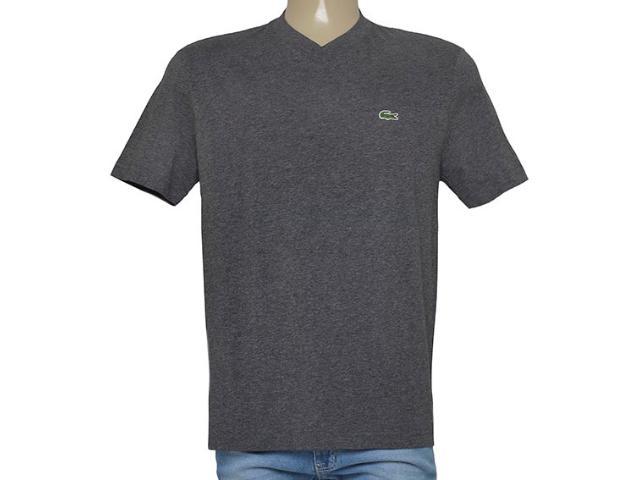 T-shirt Masculino Lacoste Th4085 21 Chumbo