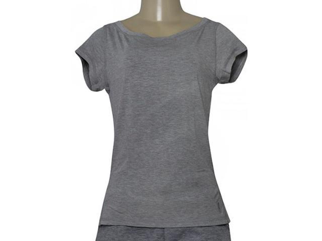 T-shirt Feminino Lupo 77013 001 8780 Mescla