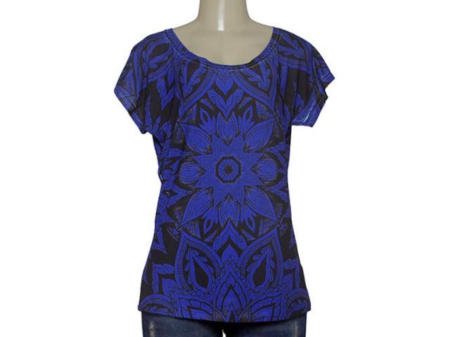 T-shirt Feminino Margo 13091 Roxo/preto