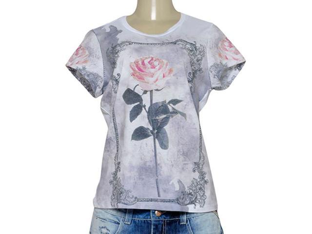 T-shirt Feminino Moikana 191196 Branco Estampado