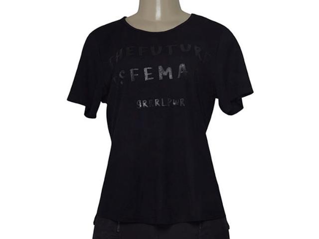 T-shirt Feminino Morena Rosa 1700009 Preto