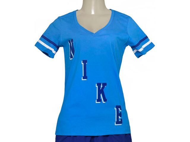 T-shirt Feminino Nike 729442-435 Tee Vneck  Azul