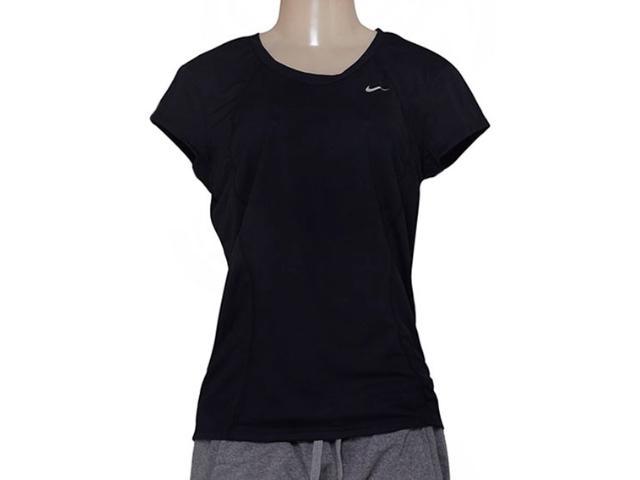 T-shirt Feminino Nike 645443-010 Racer ss Top  Preto