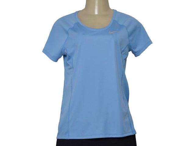T-shirt Feminino Nike 831530-465 nk Dry Miler Top  Azul Claro
