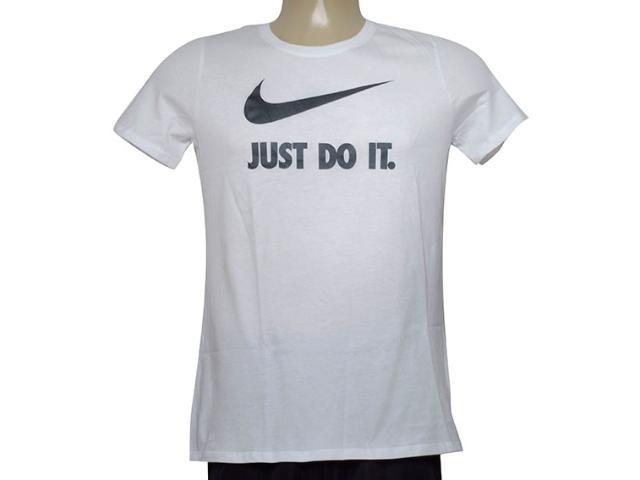 T-shirt Feminino Nike 889403-100 w Nsw Tee Crew Jdi Swsh  Branco