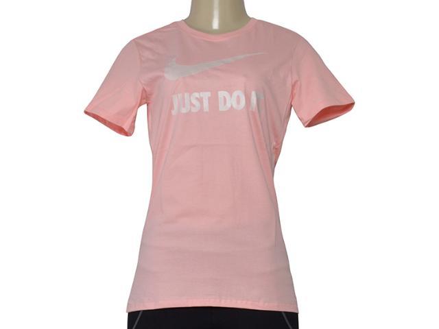 T-shirt Feminino Nike 889403-697 w Nsw Tee Crew Jdi Swsh Rosa