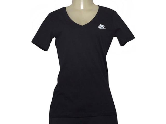 T-shirt Feminino Nike 918619-010 w Nsw Tee Vneck Lbr Preto