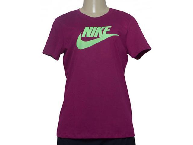 T-shirt Feminino Nike Bv6169-627 Sportswear Cereja
