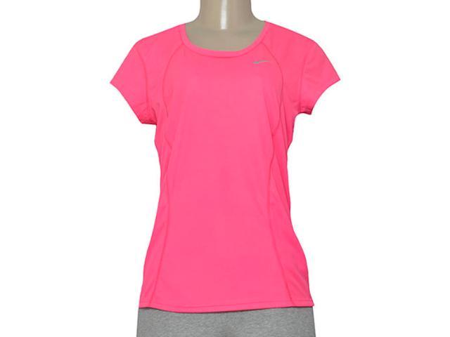 T-shirt Feminino Nike 645443-639 Racer ss  Rosa Neon