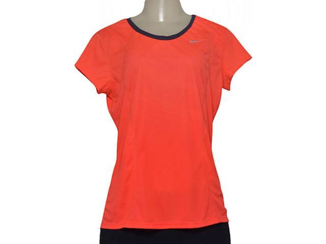 T-shirt Feminino Nike 645443-671 Racer ss  Laranja Neon